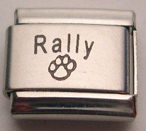 LASER DOG SPORT RALLY & PAW ITALIAN CHARM/CHARMS