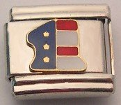 #1 AMERICAN USA FLAG ITALIAN CHARM/CHARMS FOR ZOPPINI