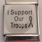 13MM SUPPORT OUR TROOPS ITALIAN CHARM/CHARMS
