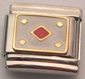 ACE OF DIAMONDS ITALIAN CHARM/CHARMS CARDS POKER