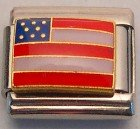 AMERICAN FLAG USA ITALIAN CHARM/CHARMS PATRIOTIC