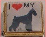 I LOVE GIANT SCHNAUZER DOG PUPPY ITALIAN CHARM/CHARMS