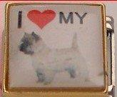 I LOVE MY CAIRN TERRIER DOG ITALIAN CHARM/CHARMS