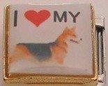 I LOVE MY CORGI DOG ITALIAN CHARM/CHARMS FOR ZOPPINI