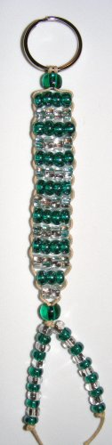 Beaded Key Chain- Aqua & Clear #KC0031