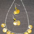 Necklace & Earing Set - Shell coins #NES030