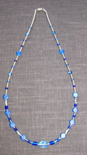 Various Blues Necklace #N006