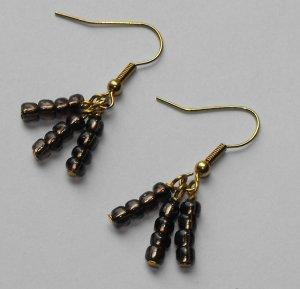 Brown multi earrings #E0043