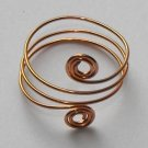 Copper tone adjustable ring