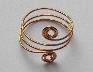 Copper tone adjustable ring