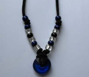 Blue & Black Native style Necklace #N003