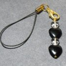 Black & Clear Cell Phone Charm #Cell0053