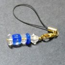 Blue & Clear Cell Phone Charm #Cell0052