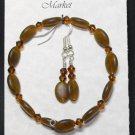 Bracelet & Earing Set- Browns  #BES0041