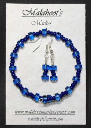 Bracelet & Earing Set- Blues  #BES0040