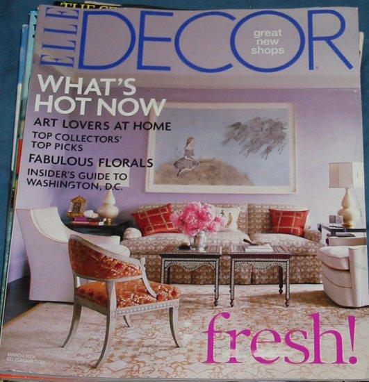 Elle Decor Magazine March 2008 Issue