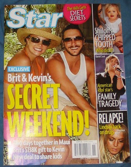 Star Magazine Britney and Kevin April 28, 2008 Issue
