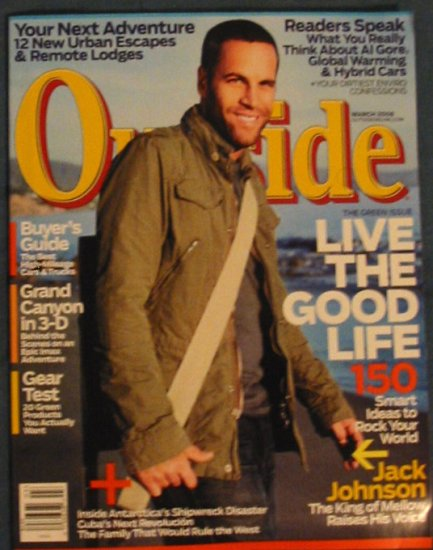Outside Magazine Jack Johnson Cover March 2008 Issue