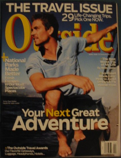 Outside Magazine Paul Walker Cover April 2008 Issu