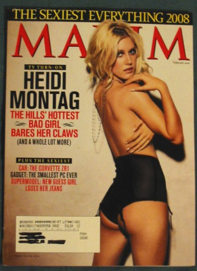 Maxim Magazine Heidi Montag Cover February 2008 Issue