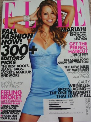 Elle Magazine Mariah Carey August 2008 Cover
