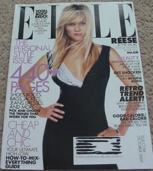 Elle Magazine Reese Witherspoon Oct 2007 Cover