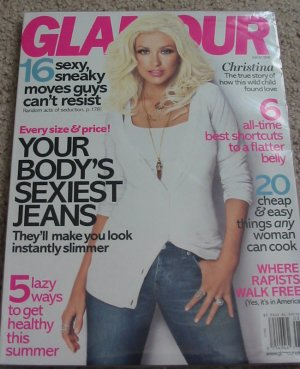 Glamour Magazine Christina Aguilera August 2008 Cover