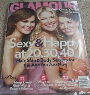Glamour Magazine Rachel Bilson, Ali Larter & Diane Lane October 2008 Cover