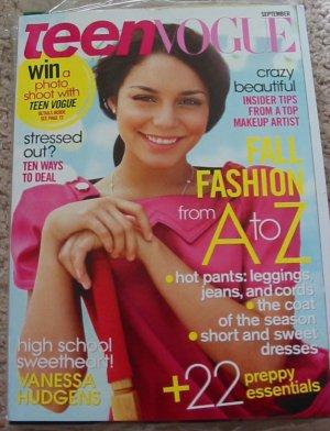 Teen Vogue Vanessa Hudgens September 2008 Cover