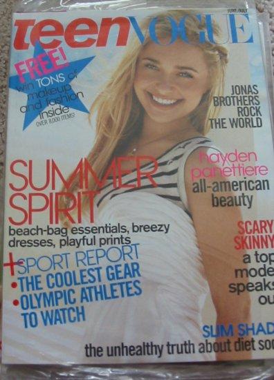 Teen Vogue Hayden Panettiere June/July 2008 Cover