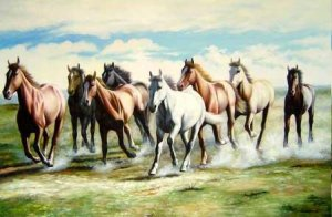 oil painting - Horse