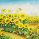 Handmade oil painting - flower