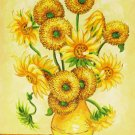 Handmade oil painting - sunflower