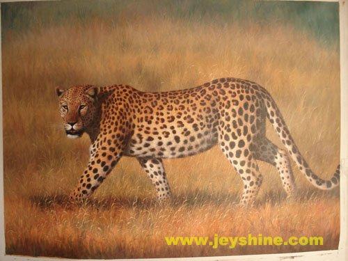 Handmade oil painting - Leopard