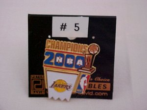 2000 L. A. Lakers Metal Pin