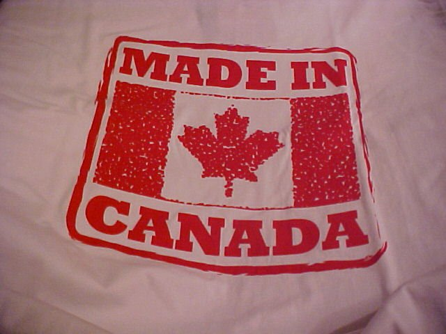 True North Brand Made In Canada Cotton Red And White T-Shirt