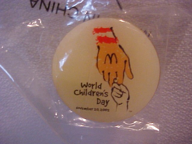 Mcdonald's World Children's Day Pin