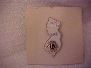 New Jersey Lions Club Pin