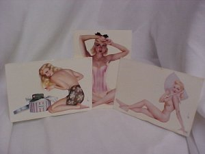 Sexy VARGA Retro Vintage Esquire  Pin-up Girls Postcards