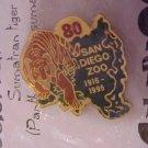 Celebrate Asia 80th Anniversary San Diego Zoo Tiger Pin