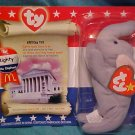 Ty McDonald Beanie Babies Righty Republican Elephant