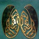 Berebi Goldtone Pierced Earrings, Green Enamel