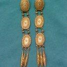 Gold Tone Chandelier Oval Earrings