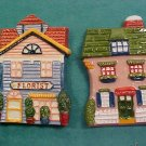 Avon Gift Cottage Collection Magnet Set of Two
