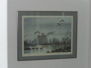 """Flying Ducks  LTD EDITION PRINT BY LLOYD M. """"PETE"""" BUCHER"""