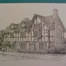 Signed print of Shakespeare's Birthplace-Anthony John