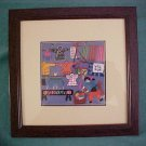 Rare/Vintage Chinese Laundry Embroidered Framed Art Piece