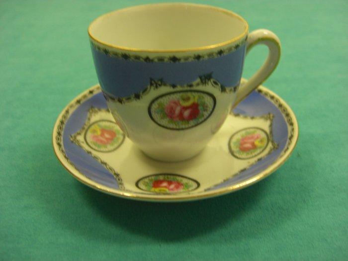 Victoria Czechoslovakia Tea Cup Saucer