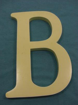 "Big Ceramic Initial ""B"""