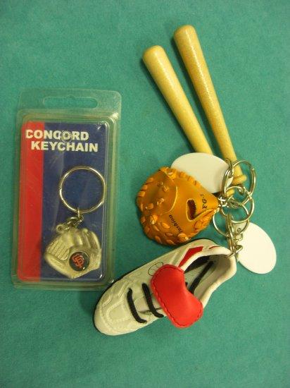 BASEBALL Keychain Key Ring  (Five)